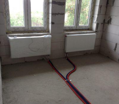 Монтаж системы радиаторного отопления в частном доме
