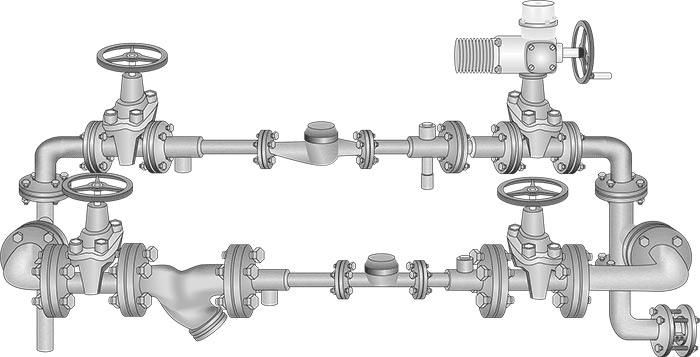 Монтаж и ремонт водомерных узлов